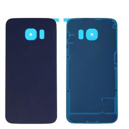Аккумулятор задняя крышка корпуса стеклянная крышка для Samsung Galaxy S6 G9200 S6 край G9250 с клеем бесплатно DHL от