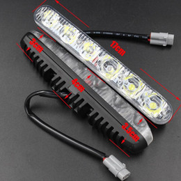 Wholesale Day Time Led - 2x 6 LED Car Daytime Running Light DRL Daylight Lamp with Turn Lights day time day running lights Lamps