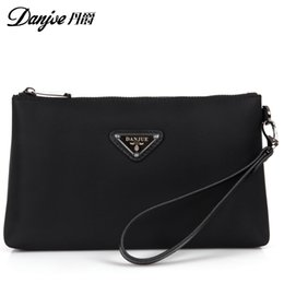 Wholesale fabric business cards - DANJUE Oxford Fabric Men Wallets Business Brand Card holder Coin Purse Men's Long Zipper daily clutches