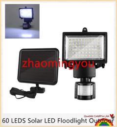 YON 60 LED Solaire LED Projecteur D'extérieur Cool Blanc PIR Capteur De Mouvement LED Lampe De Lumière D'inondation Lampe Pour Garden Path Mur Éclairage de secours ? partir de fabricateur