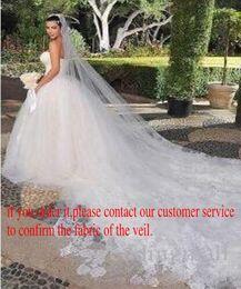 Wholesale Veil Black Edging - Lace 5M Long Vintage Wedding Veils Beautiful Bridal Veils Elegant Bridal Accessories Stunning Wedding Accessories v102