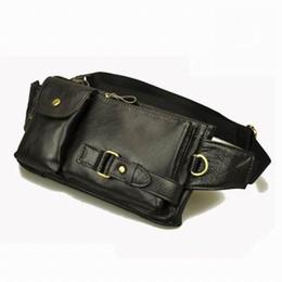 Wholesale Travel Waist Packs Women Leather - Wholesale-Vintage waist packs bolsas couro genuine leather fanny pack Fashion man small travel sports waist wallet bags for men waist bags