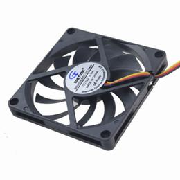 Ventilador axial de 12v dc online-Venta al por mayor - 1 pieza Gdstime 80x80x10mm 80mm 12V 3Pin Axial Computer DC Cooling Cooler Fan