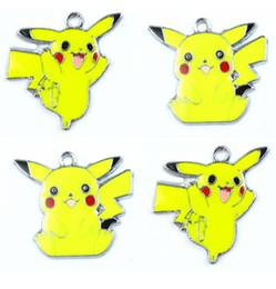 festa de fazer jóias Desconto Hot! 50 pcs 2 Estilo Amarelo Pikachu Anime Dos Desenhos Animados Projeto Esmalte de Metal Encantos Jóias Pingente Fazendo Presentes Do Partido Pode Escolher