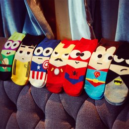 Wholesale Tiding Wholesalers - 10Pairs Lot Super hero cartoon socks cotton socks wholesale men tide