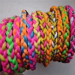 Wholesale College Titanium Necklace - Germanium titanium 3 ropes necklace tornado braided Sports X45 Necklace X50 Tornado college baseball OEM size