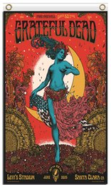 Wholesale High Fashion Music - Free Shipping Wholesale Fabric Prints 90x150cm High 100D Polyester 3x5ft Band Fashion Metal Rock Band Classic Music Grateful Dead Posters