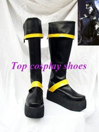 Wholesale Costumes D Halloween - Wholesale-Freeshipping custom-made anime D Gray-Man Yu Kanda Version 2 Cosplay Boots shoes for Halloween Christmas festival