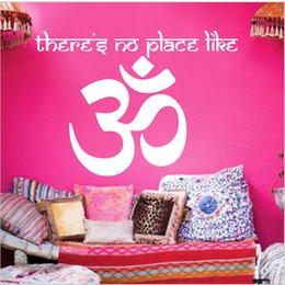 Wholesale Home Decor Sticker Islam - Islam Decal Indian Yoga Wall Art Sticker Decal Home DIY Decoration Decor Wall Mural Removable Bedroom Decal Sticker