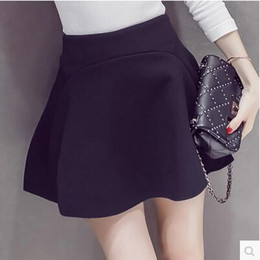 Wholesale Matching Umbrella - In The Autumn Of 2016 New Simple All-match Rubber Skirt Waist Lines Korean Fashion Skirt Umbrella Skirt Q 25