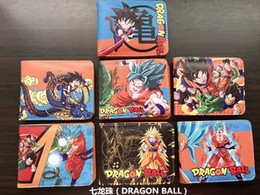 Wholesale rocks picture - DRAGON BALL Wallets Japanese Comic Slim Men Purse Boy Bifold Embossed Wallets Money coin Bolso Pictures slot Cards Bag