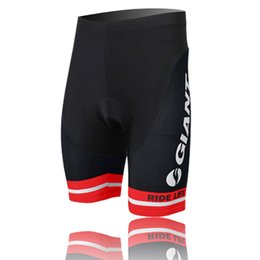Wholesale Men S Underwear Lycra - New Giant Team Black-Red 3D Padded Cycling Shorts Men's Bicycle Cycling Underwear Cycling Clothing Bottom Breathable Quick Dry