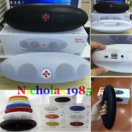 Wholesale Football Handle - Wholesale WM-1100 Rugby Football Mini Bluetooth Speaker Portable Wireless Stereo HIFI MIC FM TF Handsfree Handle Speakers WM-1300 WM-1800