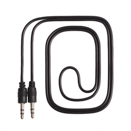 2019 mini adaptador usb vga Nueva llegada 3.5 mm Jack a 3.5 mm pin Stero Car Audio Cable Color negro 100 cm de longitud al por mayor 100pcs