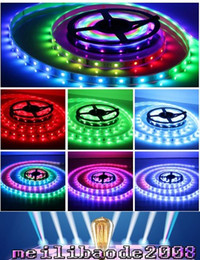 Wholesale Led Color Changing Strip - 5M 5050 150LED RGB Dream Color 6803 IC LED Strip Light 133 Change RF Remote IP67 MYY161