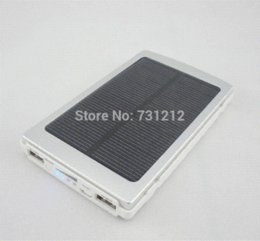 Wholesale Ipad Travel Battery - 10000mAh Outdoor Powerbank Travel Portable Solar Charger polymer Battery Mobile Power Bank for iPhone 6 iPad Tablet Galaxy HTC