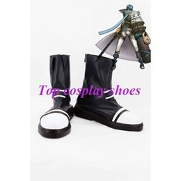Wholesale Shoes Cuffs - Wholesale-Freeshipping custom-made anime hack Hack Cuffs Legend Dusk OVAN Cosplay Boots shoes for Halloween Christmas festival