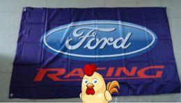 2019 digitales rennwagen Ford Racing Flagge, 90X150CM Größe, 100% Polyester, Flagge König, Digitaldruck rabatt digitales rennwagen
