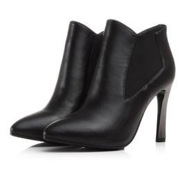 Сапоги из натуральной кожи бежевый острым носом обувь ультра высокие каблуки маленькие ярды высокий каблук 9,5 см платформа 1 см EUR размер 32-39 от