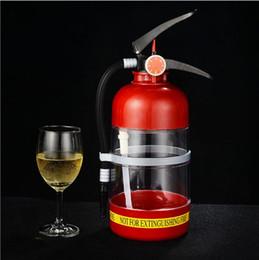 Wholesale Mini Water Dispenser Beer Machine - 2017 DIY creative Beer machine wine hand fire extinguisher 2 L capacity Mini water dispenser beverage bucket Party bar Hip Flasks wholesale