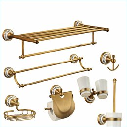 Wholesale Oil Rubbed Bathroom Accessories - Europe style oil rubbed bronze bathroom hardware,Luxury antique brass bathroom accessories,Free Shipping J15289
