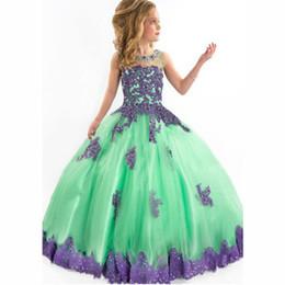 Wholesale Diamond Short Wedding Dress - 2016 Hot Sale Spring Flower Girl Princess Tutu Sleeveless Wedding Lace Dress Noble With Zipper Perspective Collar Diamond