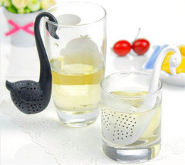 Wholesale Swan Leaf - Swan Silicon Tea Infuser Leaf Silicone Tea Infuser with Food Grade Make Tea Bag Filter Creative Stainless Steel Tea Strainers D925