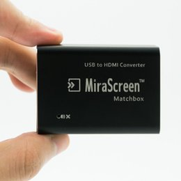 Wholesale Hd Tv Converters - New Launch! MiraScreen Matchbox 1080p USB to HDMI Converter Display Dongle Media Player Streaming TV Stick