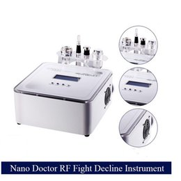Wholesale Galvanic Machines - 2016 Newest No-Needle Mesotherapy Machine With Galvanic RF Cooling Derma Pen 4 In 1 Multifunction Needle Free Mesotherapy Device