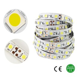 Wholesale More Brighter - LED Strip 5050 12V Flexible Light 60 leds m White Red Greed Blue Yellow Color 5m lot More Brighter Than 3528