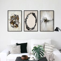 Wholesale Picture Blocks - 3 paintings of modern home decoration painting wall art painting fashion mural canvas printing poster abstract color block