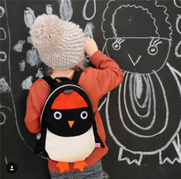Wholesale Cartoon Penguin Bags - Ins Hot Selling 2016 Whosale Newest Children Backpack Boys Girls Little Penguin Cartoon Backpacks Kids Bags