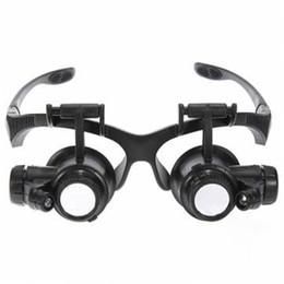 Al por mayor-Lente Nuevo que viene la lupa de la lupa 20x Reloj Reparación Gafas Estilo Lupa Reparación de grabado de gafas Reparación Ect desde fabricantes