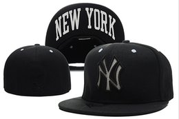 Wholesale Ny Fitted Hats Wholesale - New Hats Fitted Caps Baseball Hat Back Color New York NY All Size Mix Match Order All Caps High Quality Hat