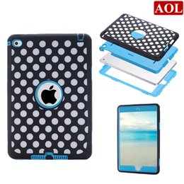 Wholesale Ipad Mini Case Dots - 3in1 Cute Laser Carving Dot Zebra Wave Combo Hard Back Cover Tablet PC Case for iPad 2 3 4 air air2 iPad mini