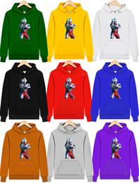 Wholesale Children S Character Hoodies - (A seven Tide brand)100% cotton Boys   Girls Ultraman Hoodies Sweatshirts Cartoon characters sweatshirt winter baby Fleece children coats