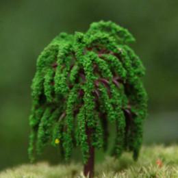 Commercio all'ingrosso ~ 24 Pz / verde salice artificiale / miniature / piante carine / fairy garden gnome / muschio terrarium decor / artigianato / bonsai da