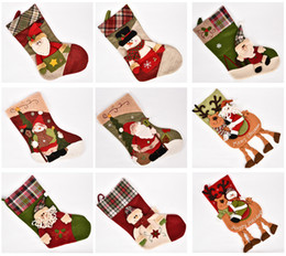 Wholesale Drop Ornament - 28 Patterns Cute Xmas Stockings Christmas Party Decorations Big Size 48cm*27cm Length Christmas Ornament Stockings Drop Shipping
