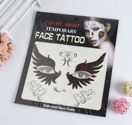maschera gatto dell'annata Sconti Tatuaggio temporaneo faccia a faccia del tatuaggio di sorriso di vendita di notte di spavento di vendita calda Autoadesivi temporanei dei tatuaggi di trasferimento della catena di arte negli stili misti di riserva DHL libera la nave