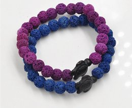 Wholesale Wholesale Bead Custom Jewelry - free shipping Wholesale Custom Jewelry 2016 Popular Vogue Lucky tortoise charm Lava Natural Stone Beaded Mens Gemstone Beads Bracelets