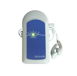 Wholesale Doppler Gel - Kids Fetal Doppler Angelsounds Heart Monitor Probe+GeL Baby Heart Beat Monitor without Display Low Power Pocket Fetal Doppler