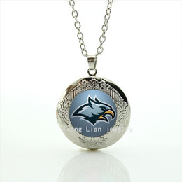Wholesale men eagle necklaces - Trendy animal symbol locket necklace Philadelphia Eagles team Newest mix 32 sport team jewelry gift for men and boys NF027