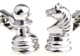 Wholesale International Jewelry - international chess Cufflinks for men shirt Wedding Cufflinks French Cuff Links Fashion Jewelry Best Gift Top Grade