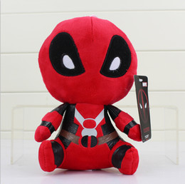 Wholesale Ems Toys - New Movies Deadpool Plush Toys soft doll PP cotton 20cm Deadpool Stuffed Animals Baby Toys Free Shipping EMS