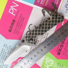 2019 navajas plegables sanrenmu Sanrenmu 7056LUF-GHV-T4 SRM Recurve Utility 8Cr14mov (56-58HRC) Blade G10 Textured Handle pocket Survival folding knife navajas plegables sanrenmu baratos