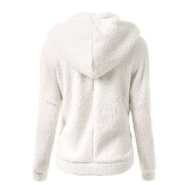 Wholesale Zip Up Winter Parkas - Wholesale- Women Warm Winter Thicken Fleece Coat Zip Up Hooded Slim Parka Jacket Overcoat Hoddies