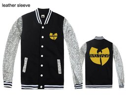 Wholesale Yellow Tang Shipping - Wu tang baseball jackets for men fashion hip-hop mens winter coats free shipping new discount Wu tang clothing hip hop jackets