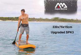 Wholesale Inflatable Stand Up Board - 330*75*15cm AQUA MARINA 11 feet FUSION inflatable sup board stand up paddle board inflatable surf board surfboard boat kayak pump