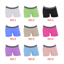 Wholesale Seamless Boxers - Wholesale-9 colors Women Seamless High Waist Pants Shorts Breathable Antibacterial Sport Boxer shorts Tight shorts