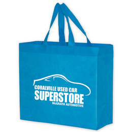 Wholesale Reusable Bags Logo - customize reusable grocery bag 30*40*10CM with customer's logo lowest price free shipping